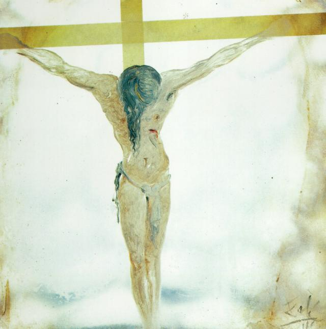 SALVADOR DALI – 1965 – 28 – Untitled (Apocalyptic Christ; Christ with Flames) 1965