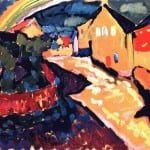 Peinture - Kandinsky - Murnau With Rainbow 1909