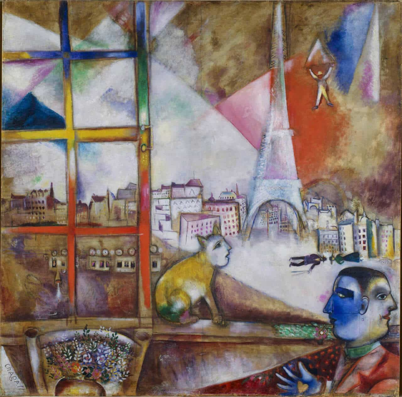 Marc Chagall -Paris a traves de la ventana