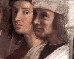 Raffaello-StanzeVaticane-TheSchoolofAthens28detail295B085D