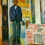 Munch - Selfportrait Between Clock And Bed