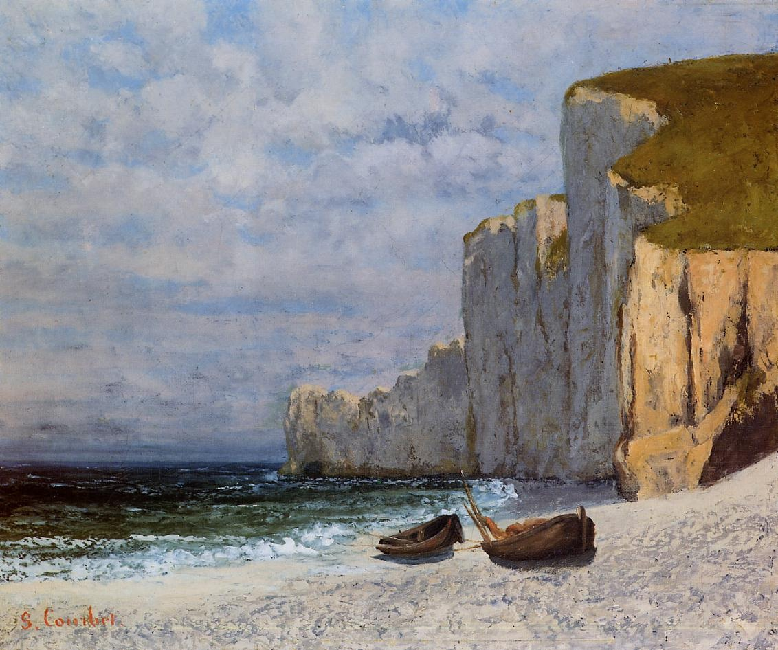 A Bay with Cliffs – Gustave Courbet