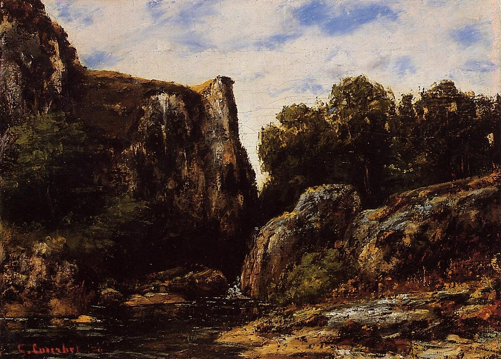 A Waterfall in the Jura – Gustave Courbet