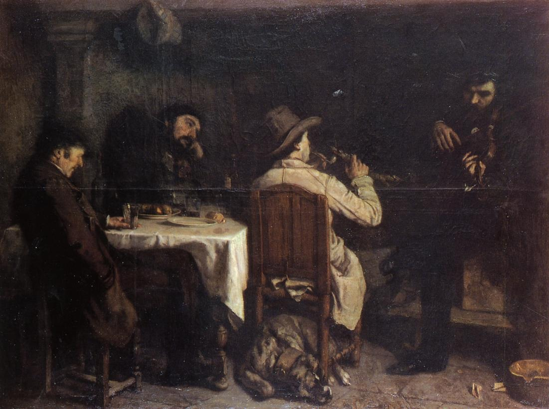 After Dinner at Ornans – Gustave Courbet