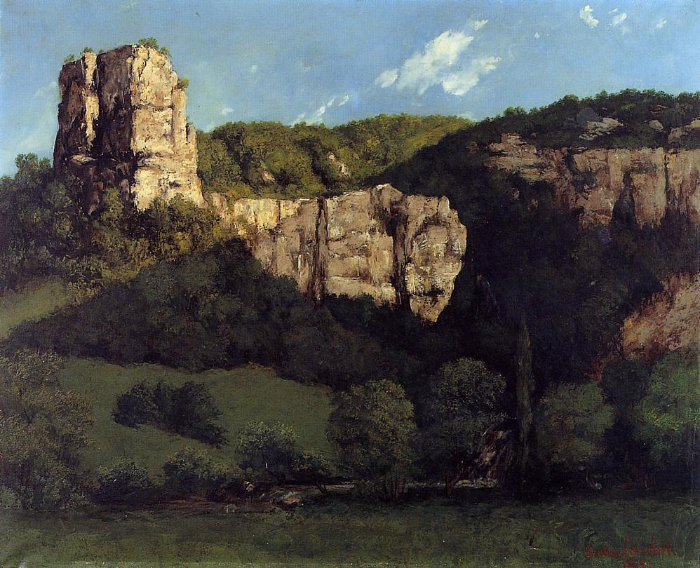 Bald Rock in the Valley of Ornans – Gustave Courbet