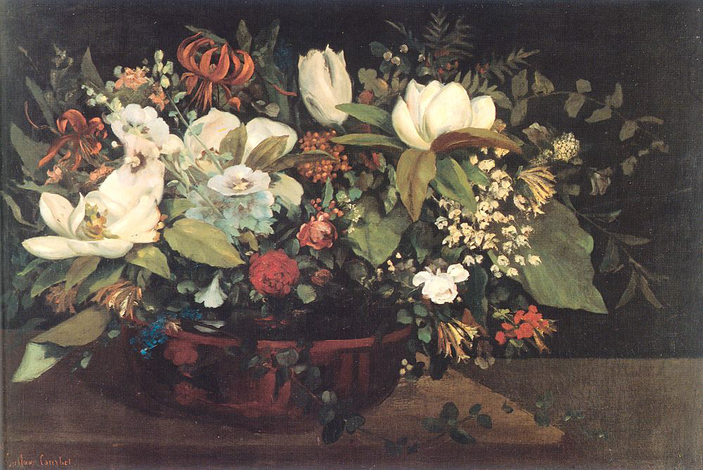 Basket of Flowers – Gustave Courbet