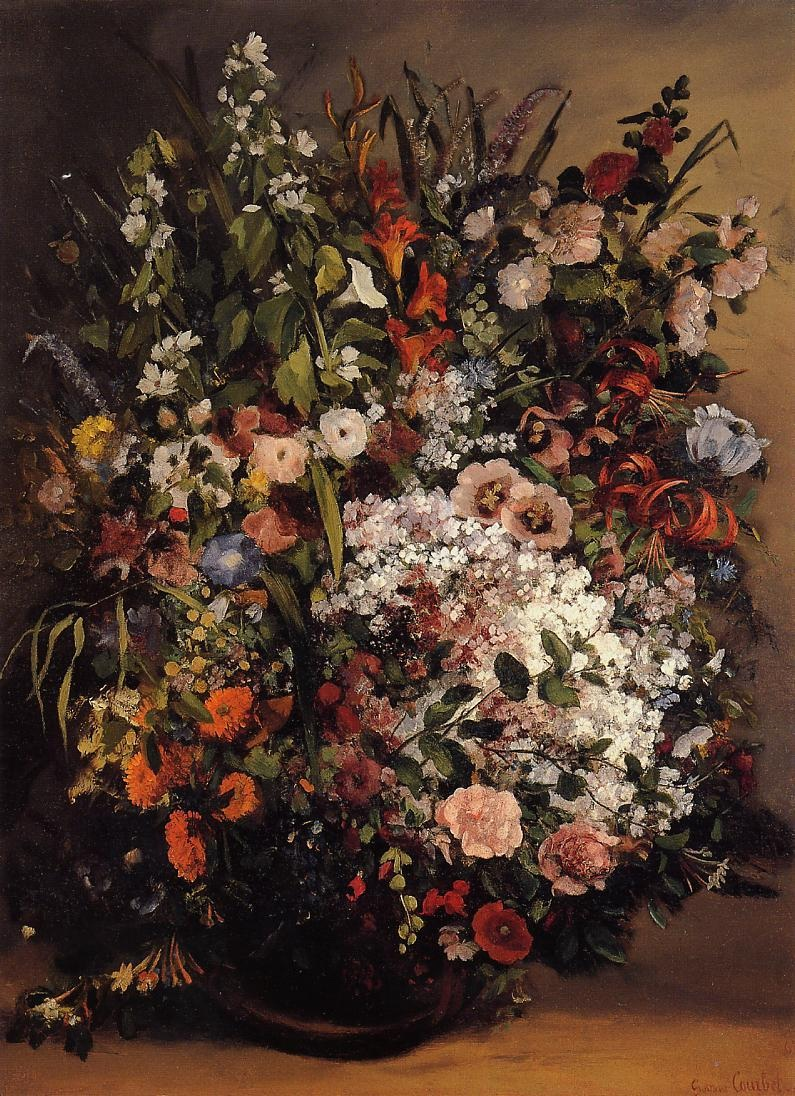 Bouquet of Flowers – Gustave Courbet