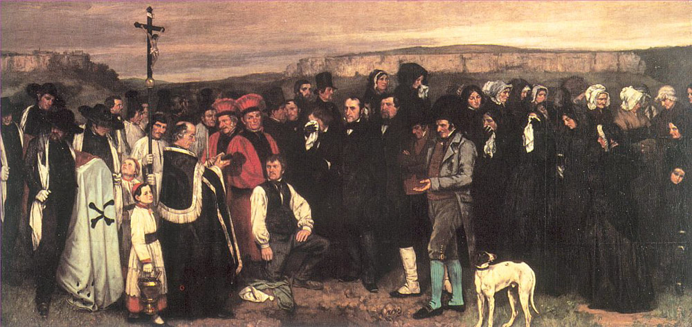Burial at Ornans – Gustave Courbet