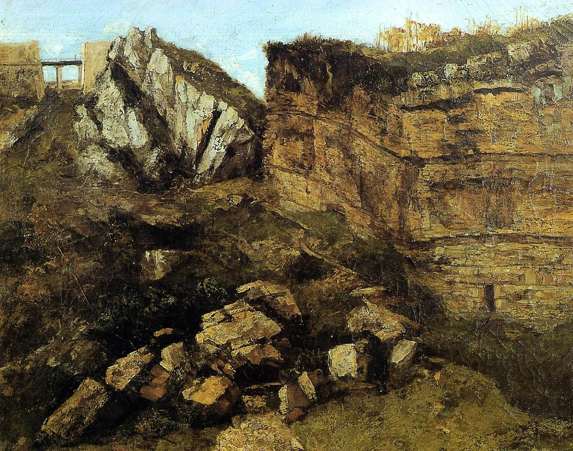 Crumbling Rocks – Gustave Courbet