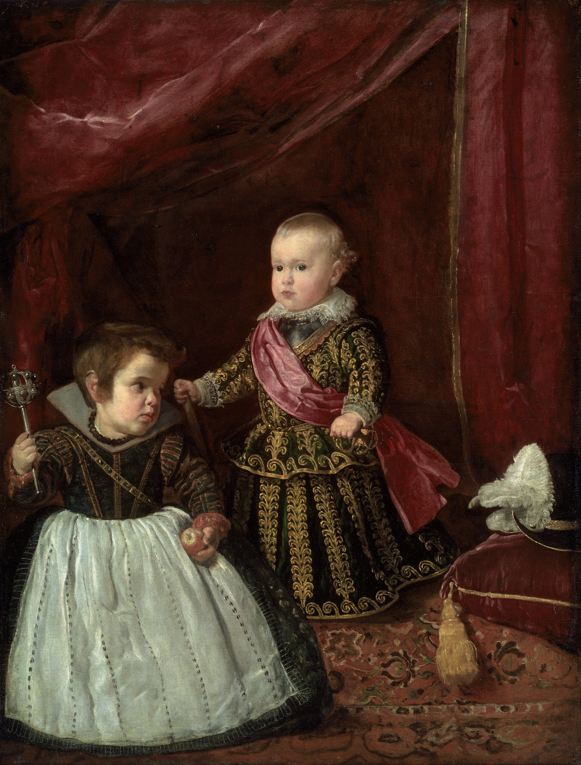Diego Rodríguez de Silva y Velázquez – Don Baltasar Carlos with a Dwarf – Google Art Project