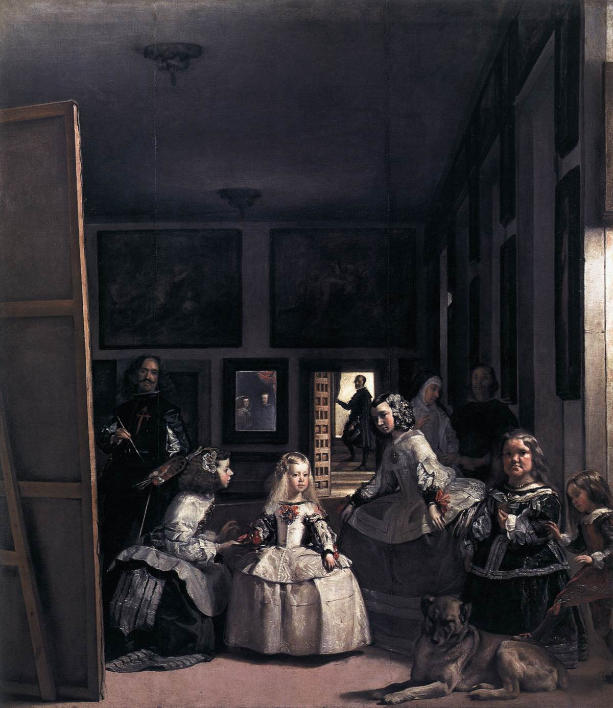 Diego Velázquez – Las Meninas or The Family of Philip IV – 48