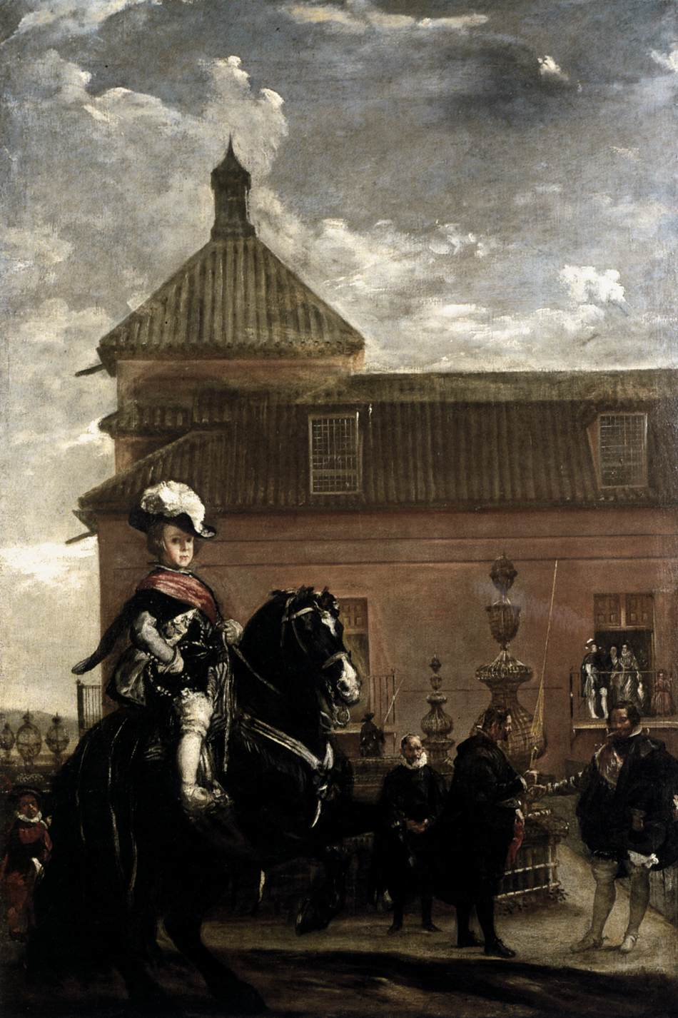 Diego Velázquez – Prince Baltasar Carlos with the Count-Duke of Olivares at the Royal Mews – 17