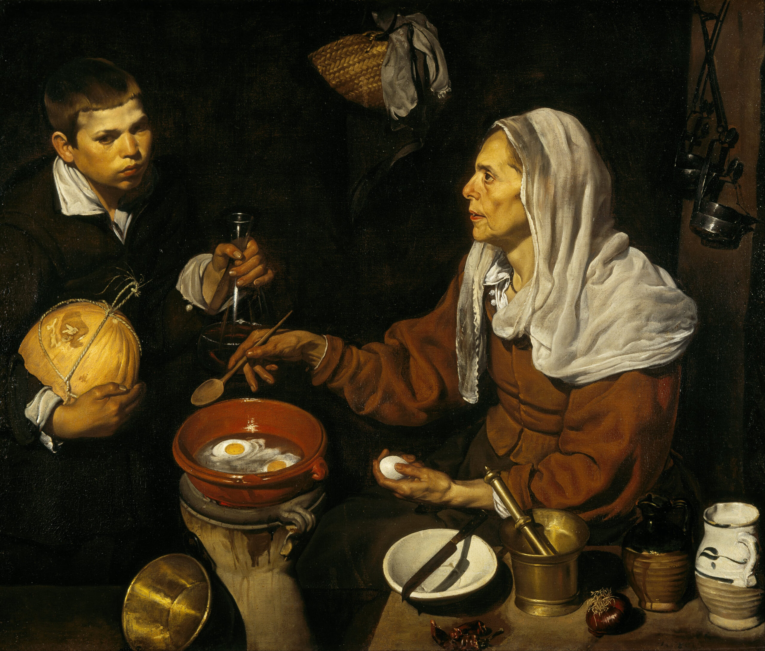 Diego Velazquez – An Old Woman Cooking Eggs – Google Art Project