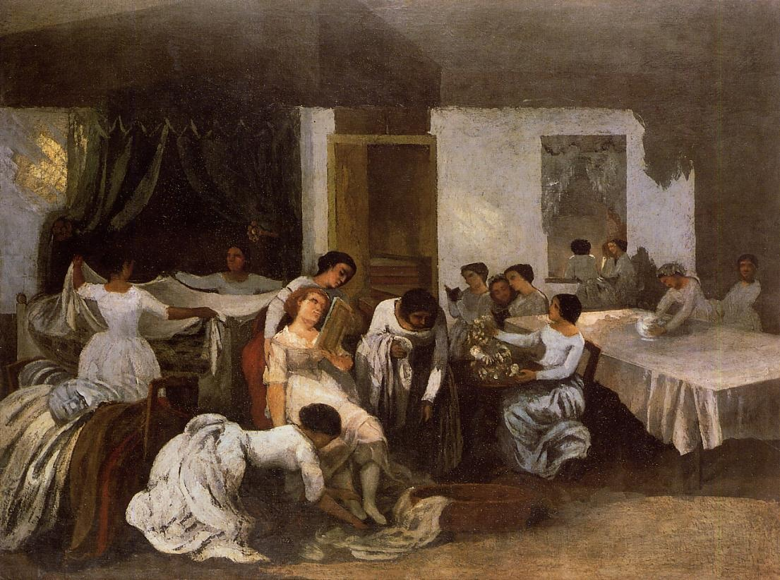 Dressing the Bride – Gustave Courbet
