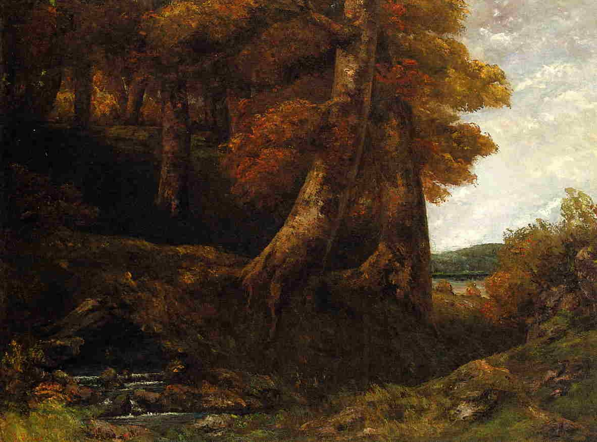 Entering the Forest – Gustave Courbet