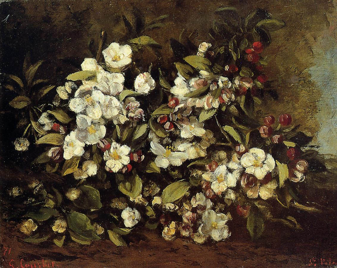 Flowering Apple Tree Branch – Gustave Courbet