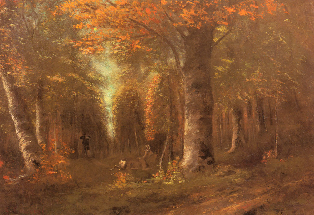 Forest in Autumn – Gustave Courbet