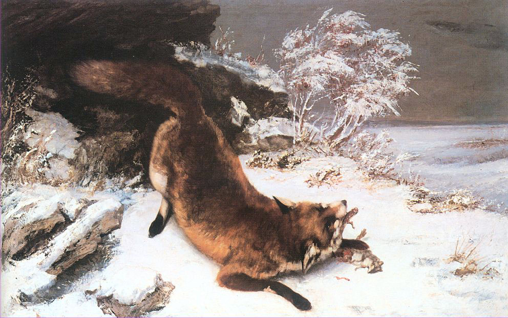 Fox in the Snow – Gustave Courbet