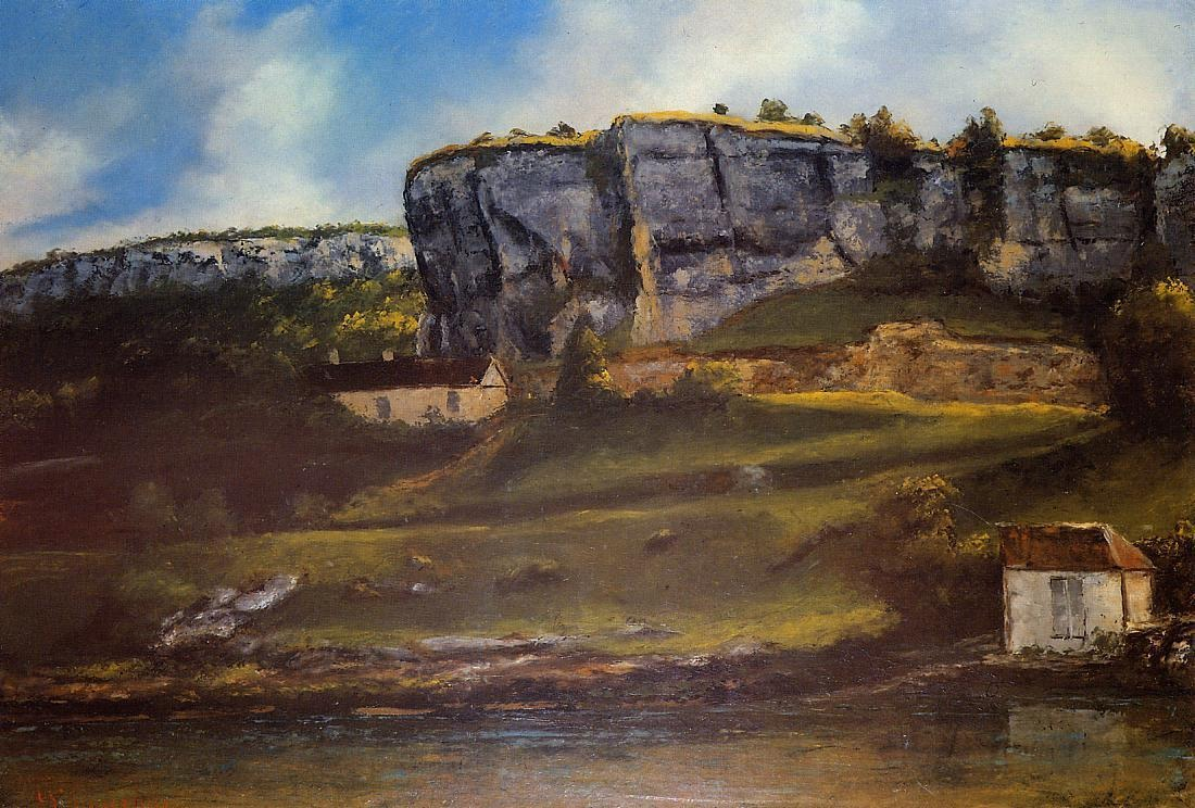 Landscape of the Ornans Region – Gustave Courbet