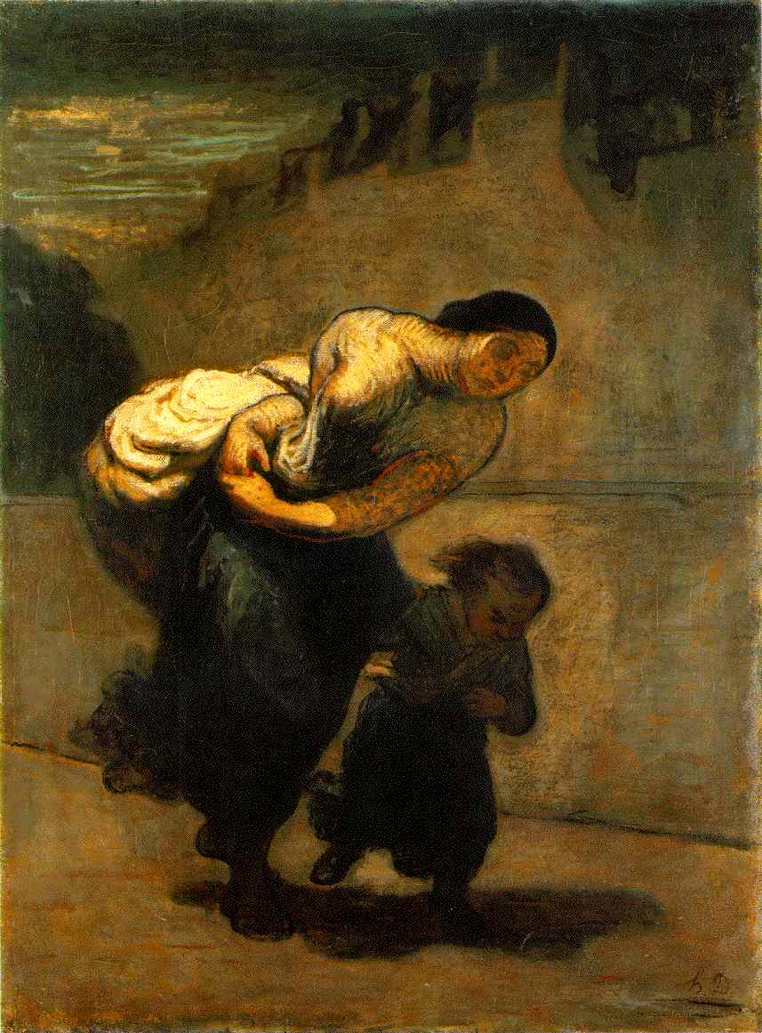Laundress on the Quai d'Anjou – Daumier