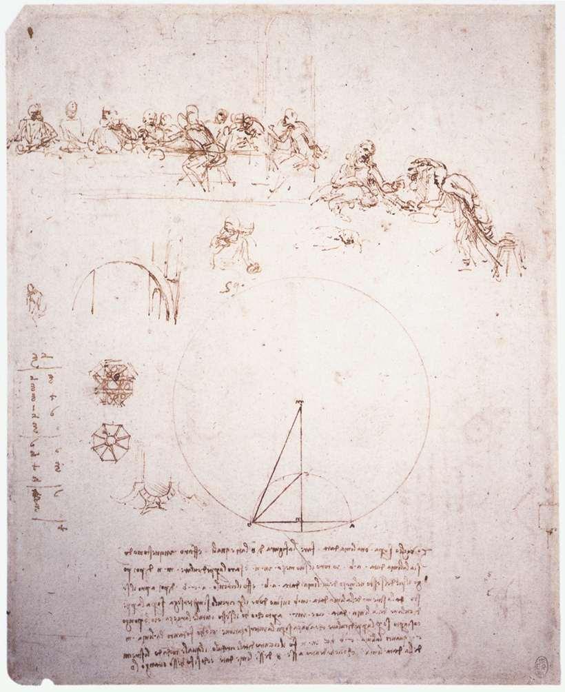 Leonardo da Vinci – Study for the Last Supper