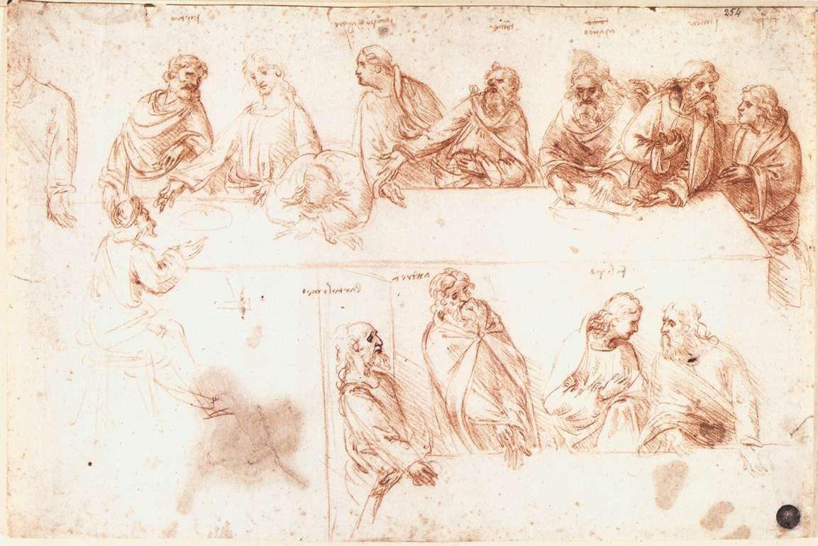 Leonardo da Vinci – Study for the Last Supper2