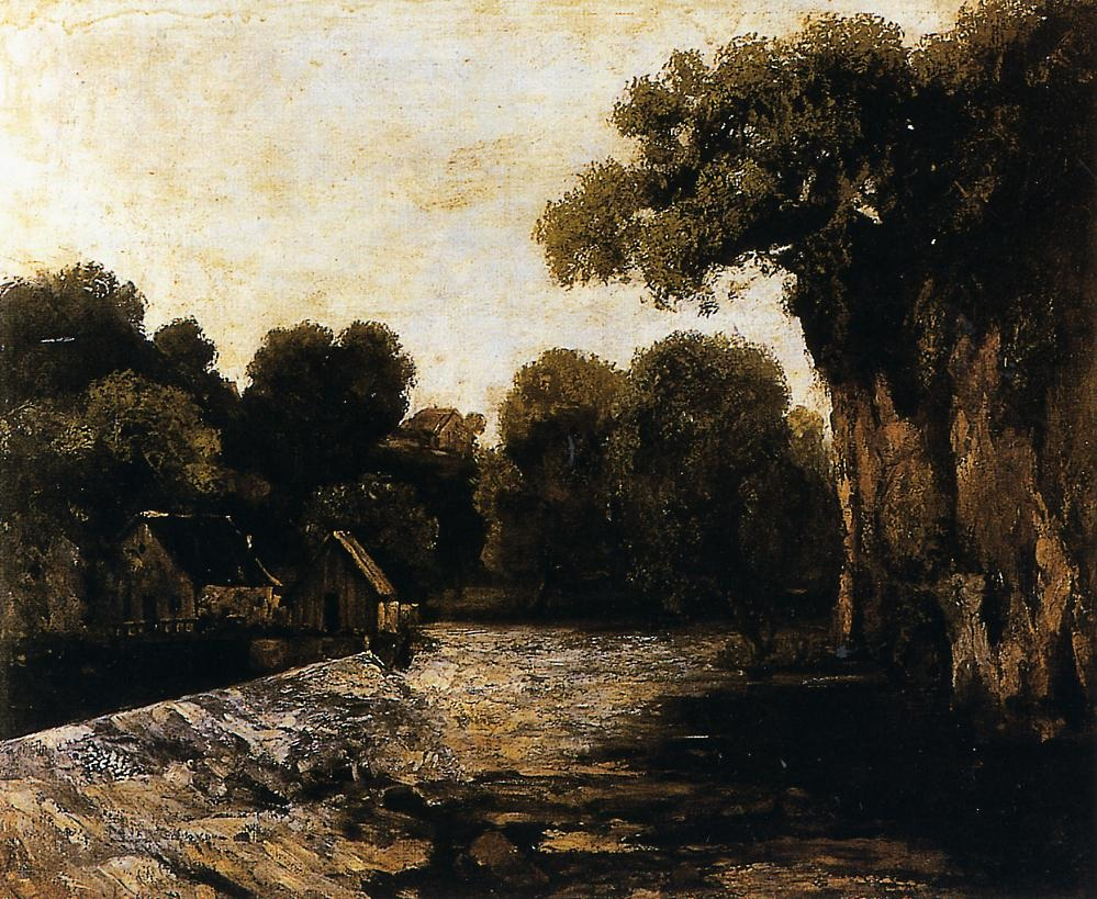 Locks on the Loue – Gustave Courbet