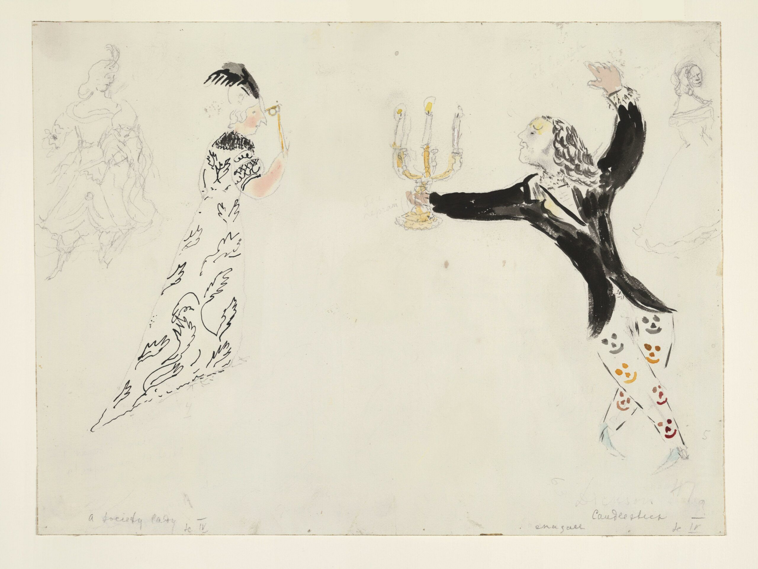 Marc Chagall – A Candlestick and a Society Lady