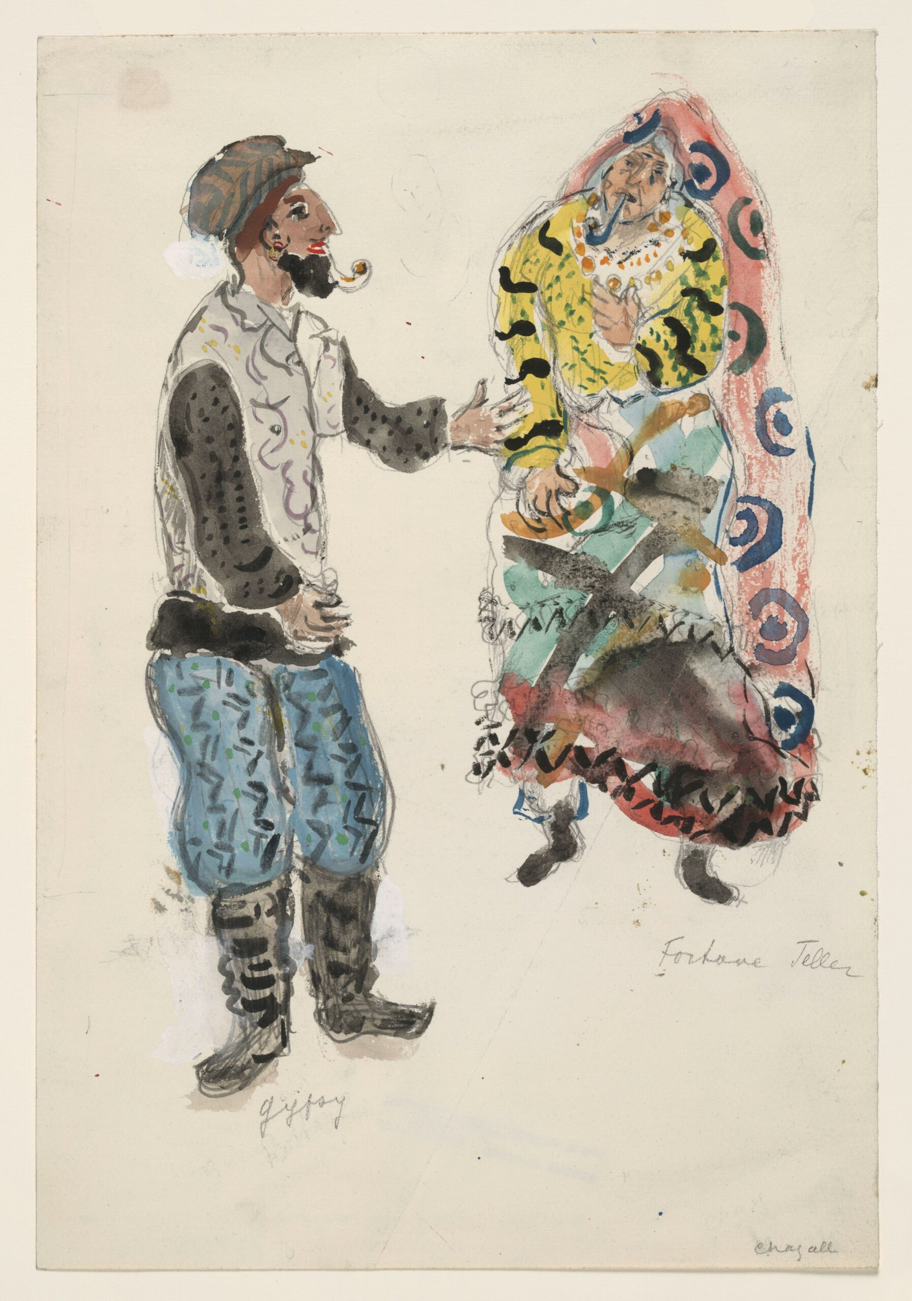Marc Chagall – A Fortune Teller and a Gypsy