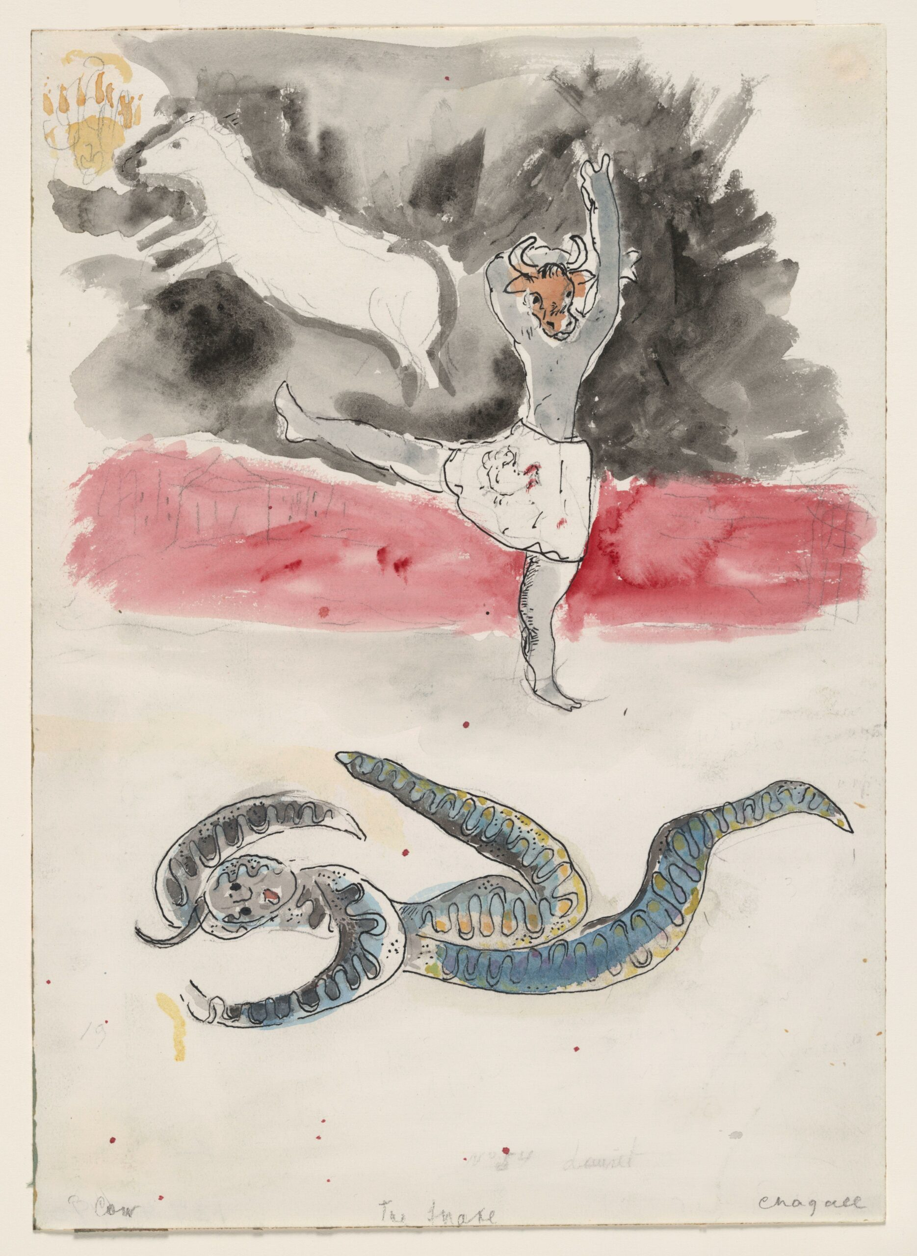 Marc Chagall – A Snake and a Cow