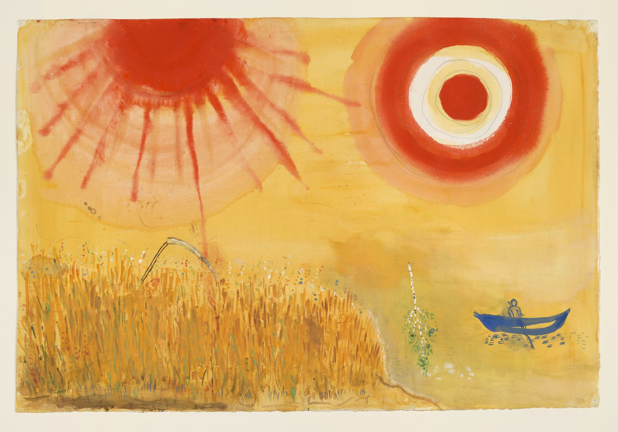 Marc Chagall – A Wheatfield on a Summer's Afternoon, decor for Aleko