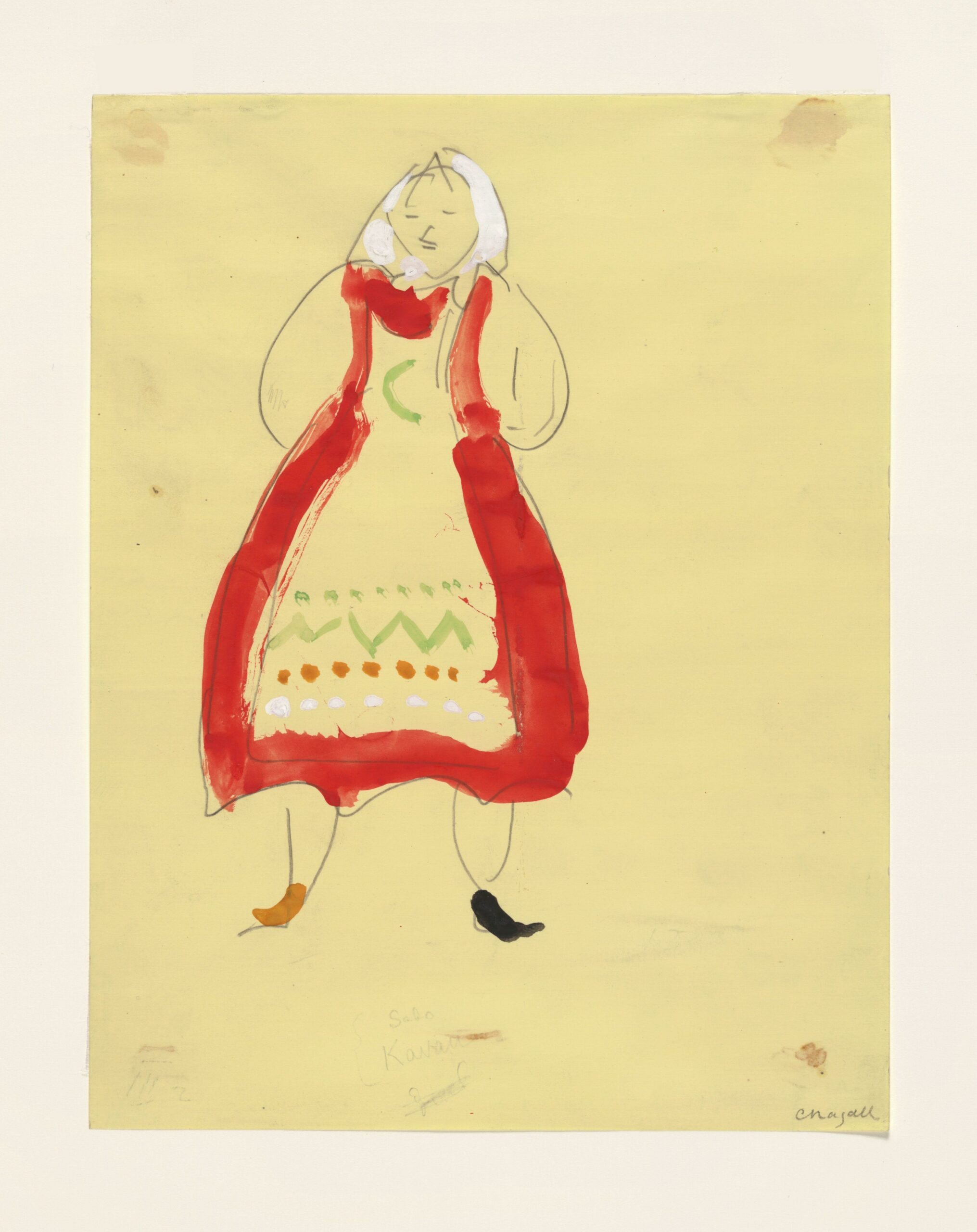 Marc Chagall – Costume for Peasant