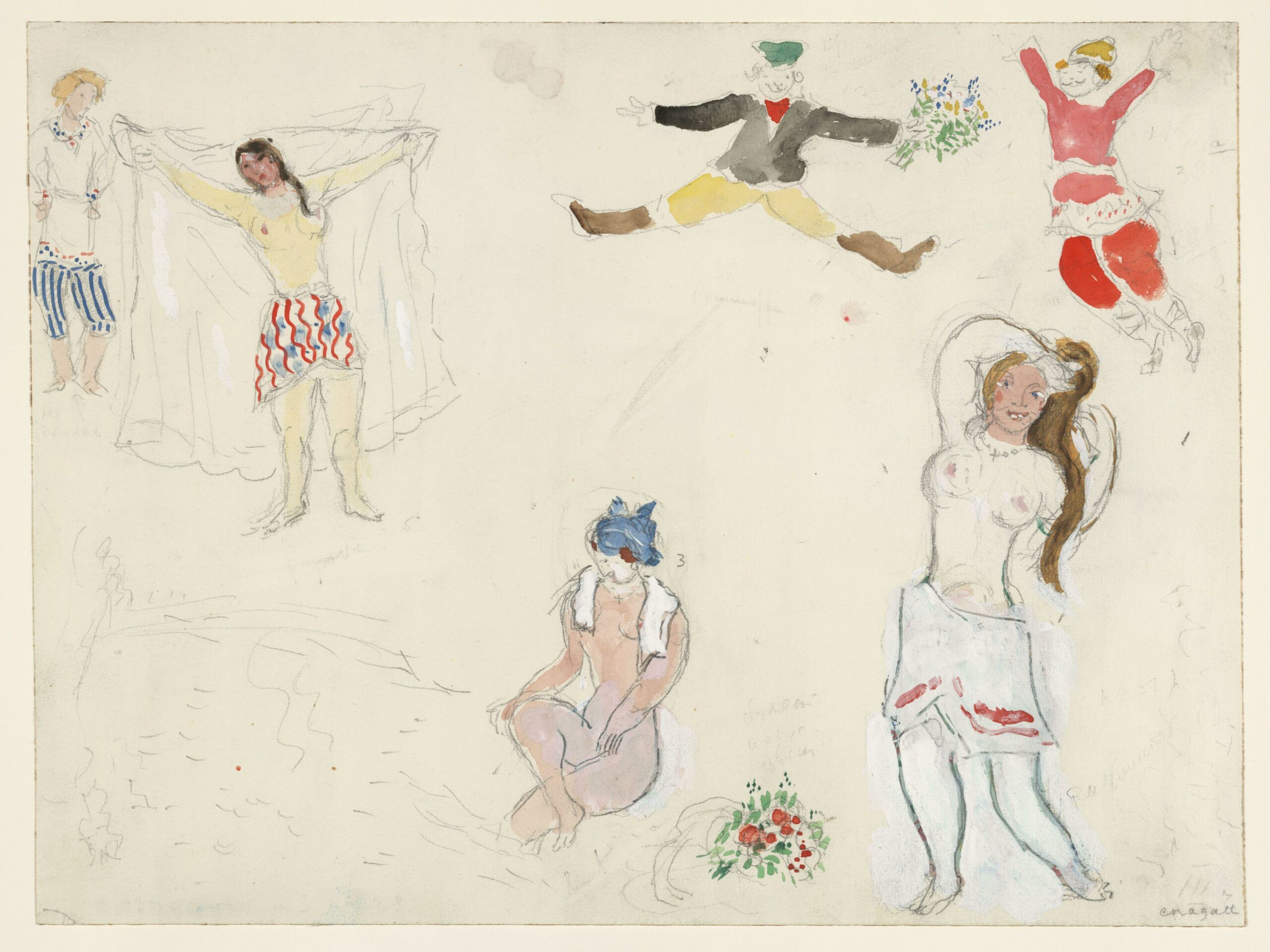 Marc Chagall – Costumes for Bathers and Peasants