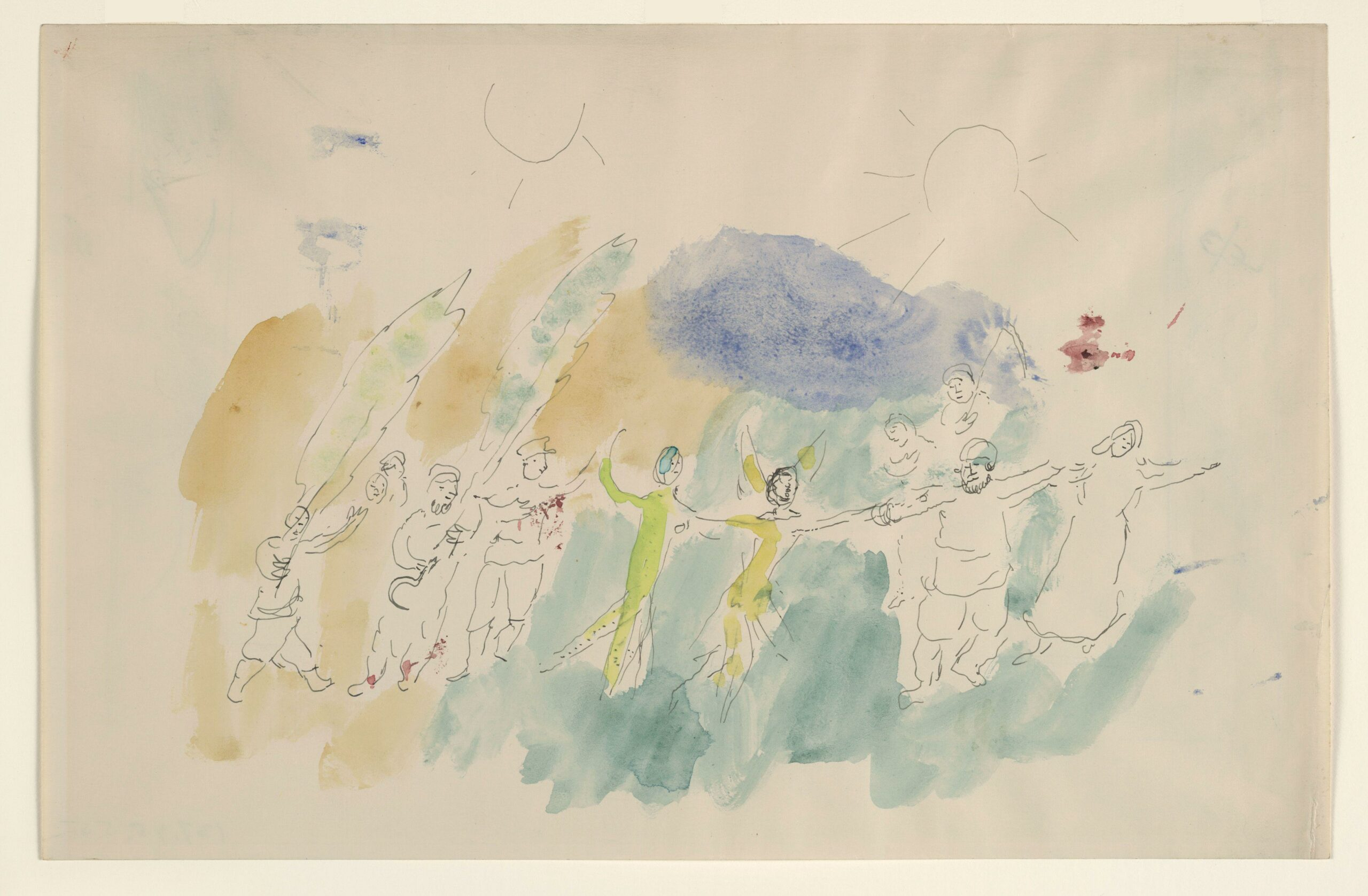 Marc Chagall – Dance of Butterfly and Pan, sketch for the choreographer for Aleko