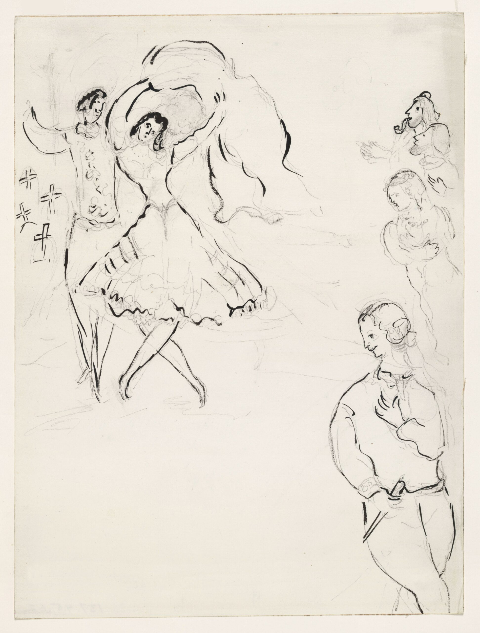 Marc Chagall – Sketch for the Choreographer (2)