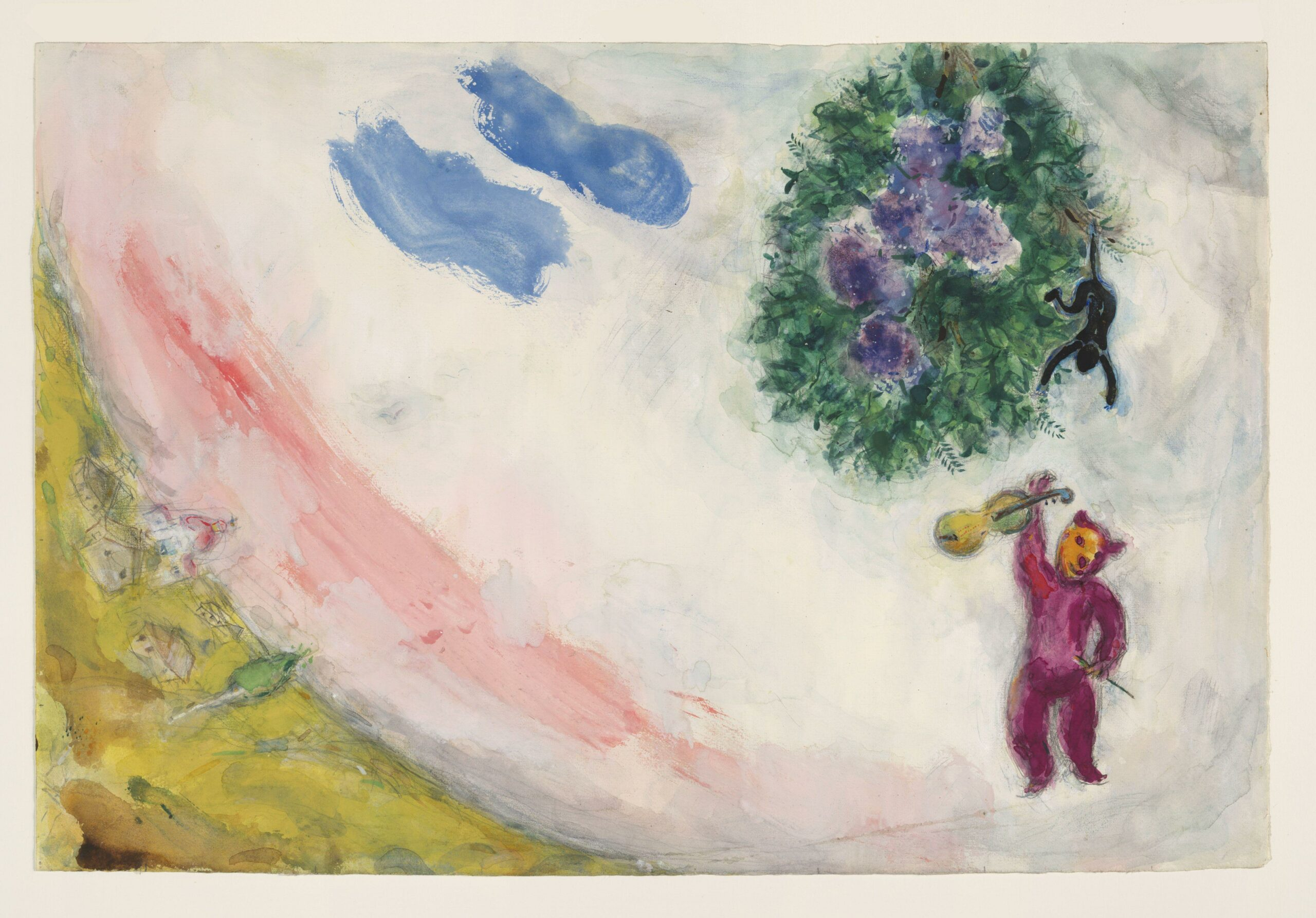 Marc Chagall – The Carnival, decor for Aleko