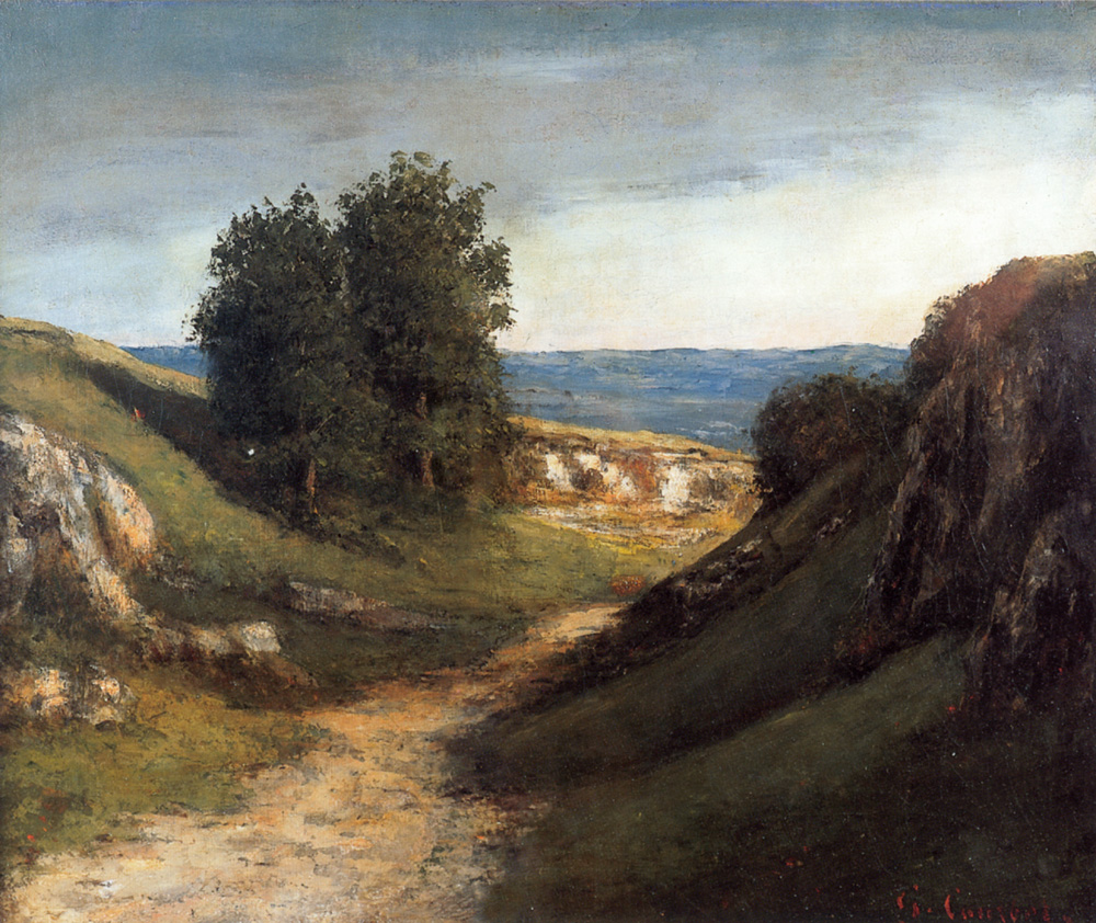 Paysage Guyere – Gustave Courbet