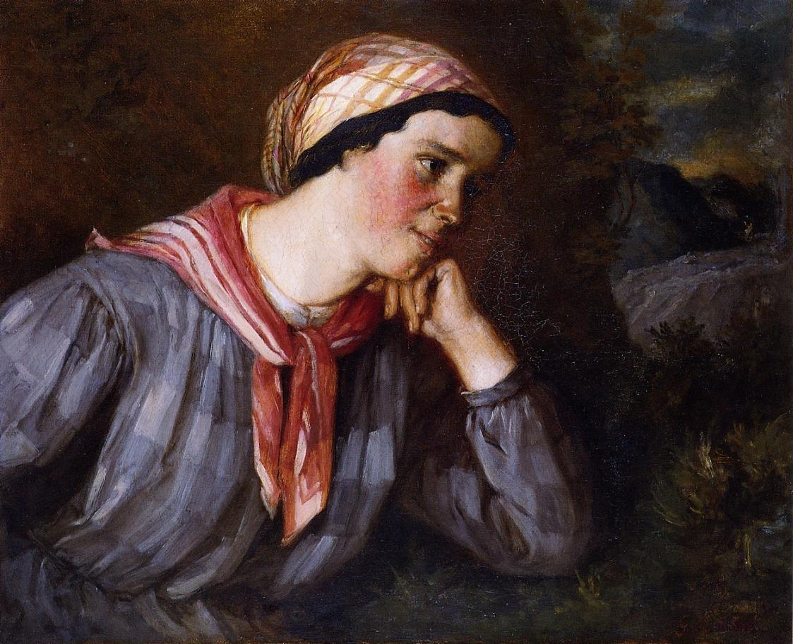 Peasant Wearing Madras – Gustave Courbet