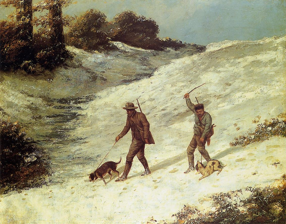 Poachers in the Snow – Gustave Courbet