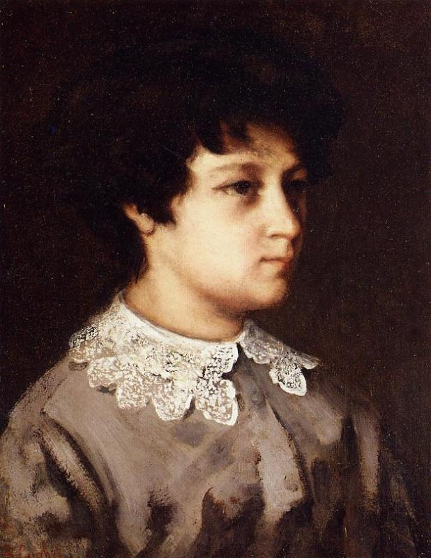 Portrait of a Young Girl from Salins – Gustave Courbet