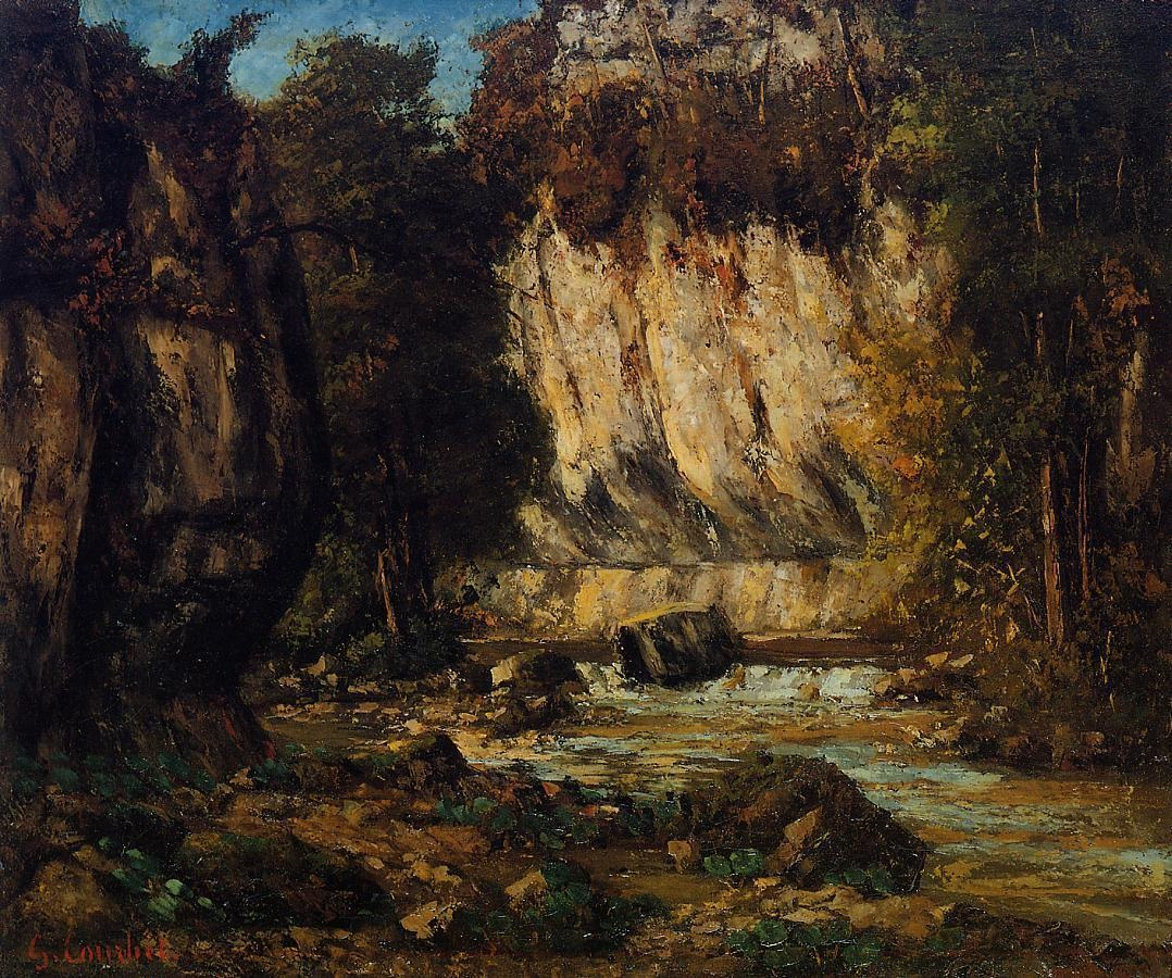 River and Cliff – Gustave Courbet