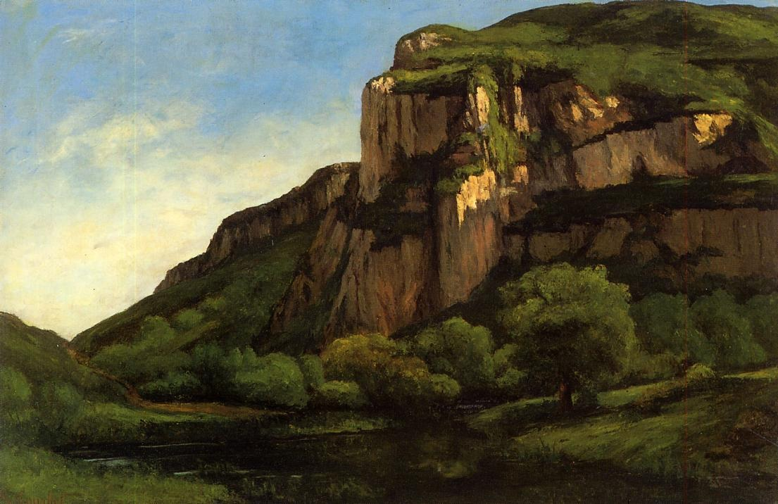 Rocks at Mouthier – Gustave Courbet
