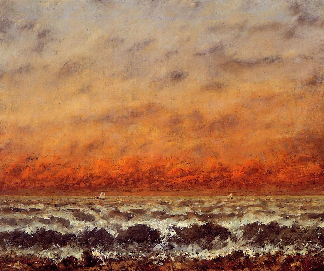 Seascape – Gustave Courbet
