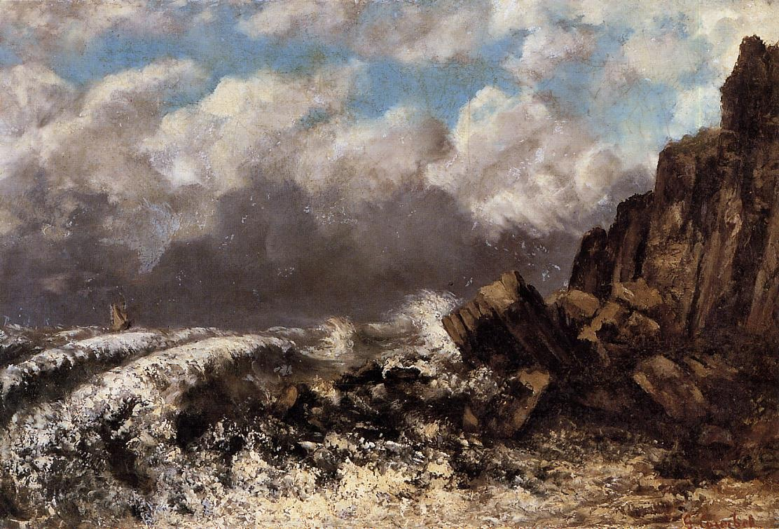 Seascape at Etretat – Gustave Courbet
