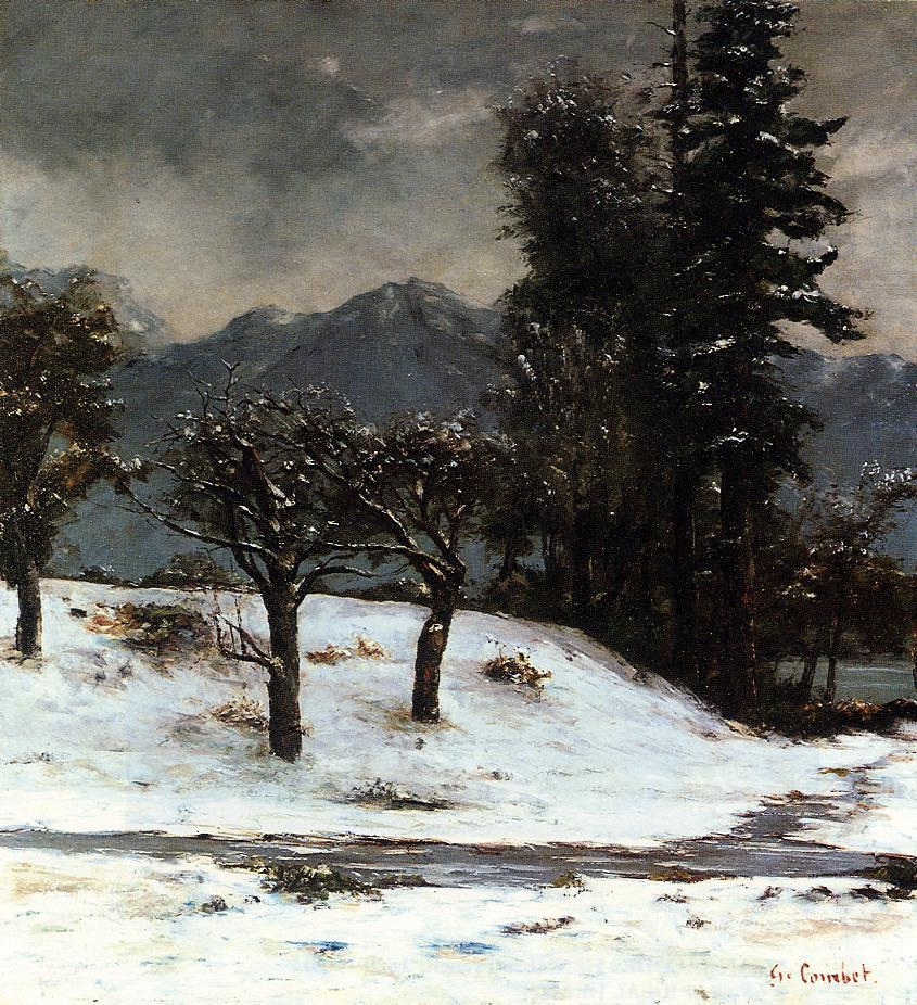Snow – Gustave Courbet
