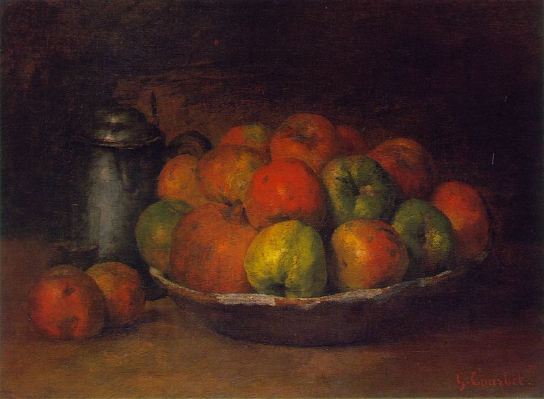 Still Life with Apples and Pomegranate – Gustave Courbet