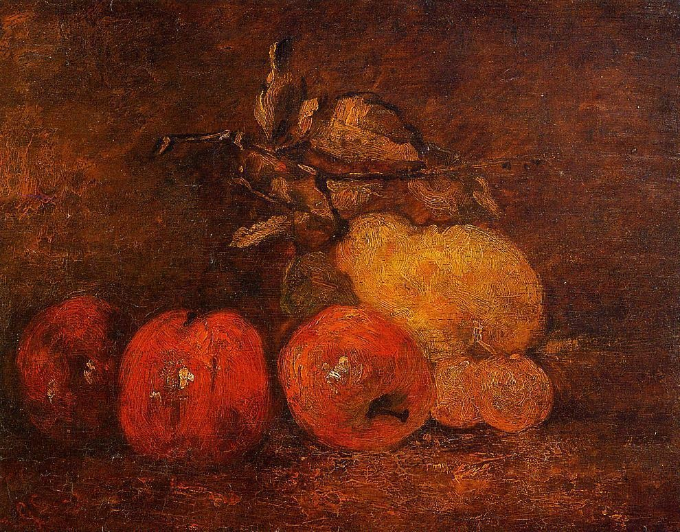 Still Life with Pears and Apples 1 – Gustave Courbet