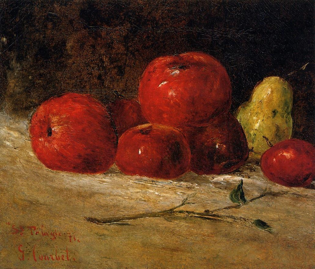 Still Life with Pears and Apples 2 – Gustave Courbet
