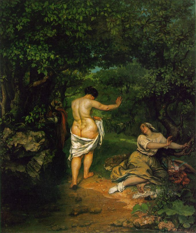 The Bathers – Gustave Courbet