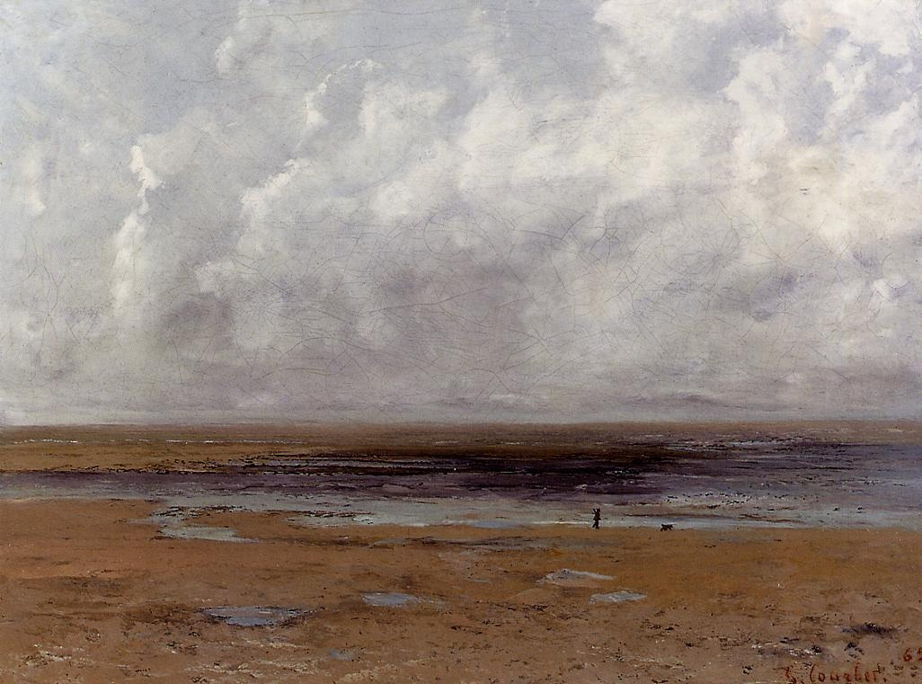 The Beach at Trouville at Low Tide 1 – Gustave Courbet